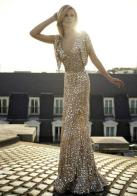 Elie Saab gold wedding dress